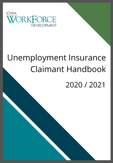 Image of the Unemployment Insurance Claimant Handbook Cover