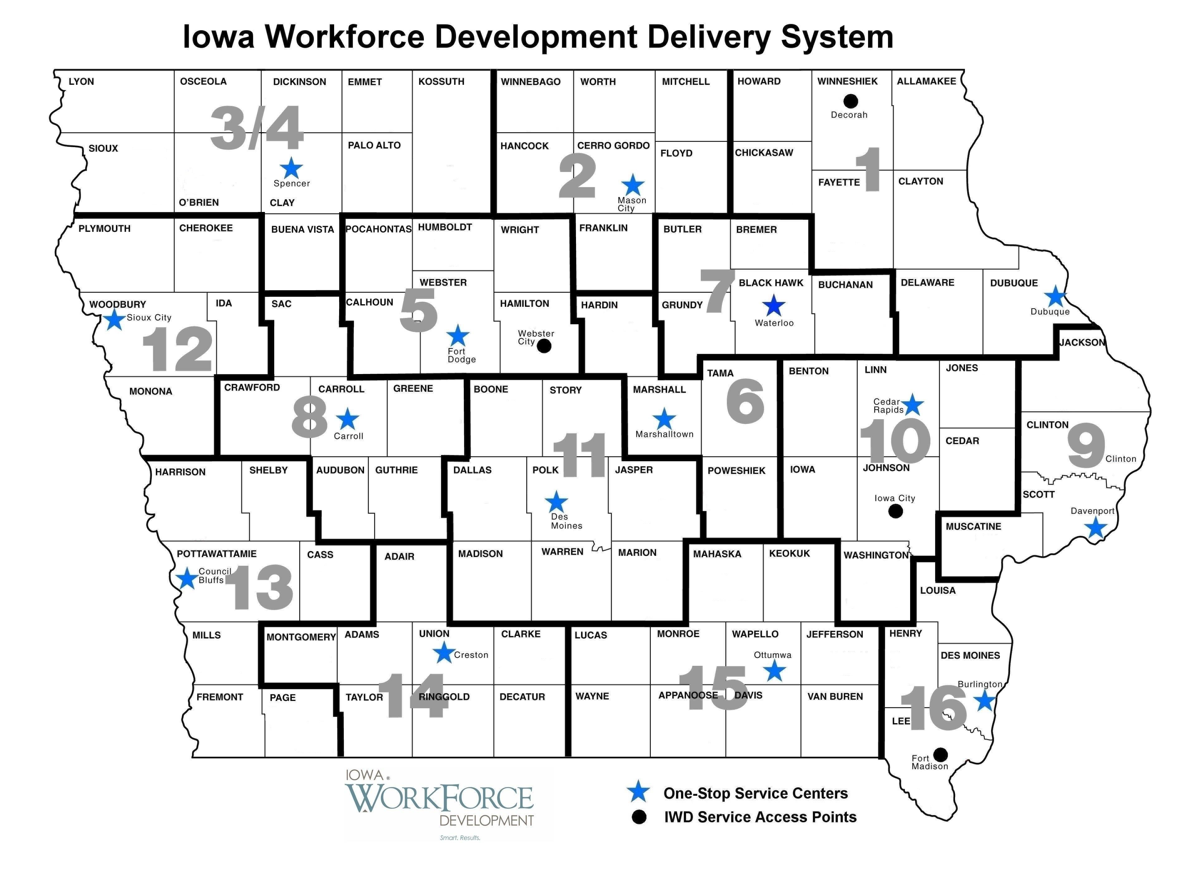 Regional Workforce Investment Boards Iowaworkforcedevelopment - Counties in iowa