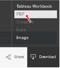 Image illustrating where the download PDF function is located.