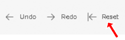 "Image of the ""undo, redo, reset"" toolbar located at the bottom of all visualizations."